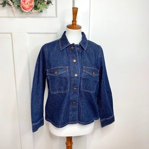 Madewell New Boxy Snap Button Denim Chore Jacket